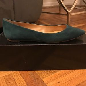 J. Crew Suede pointed toe flats, worn a few times.